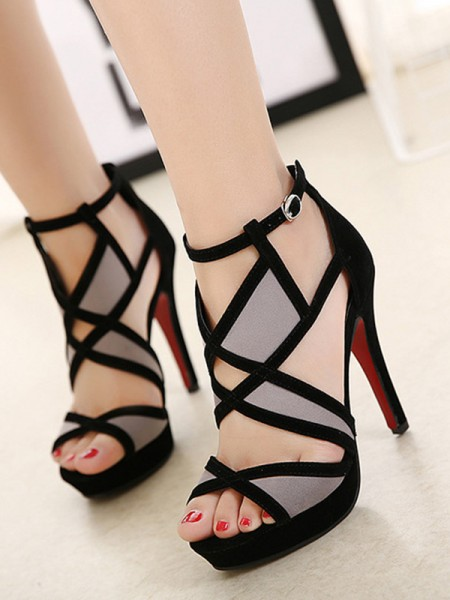 Hollow-out Stiletto Heel Peep Toe Women's Sandals