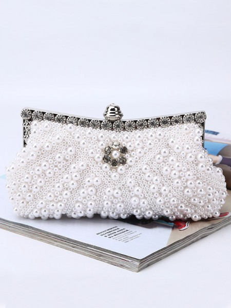 Fashion Evening/Party Handbags With Pearl