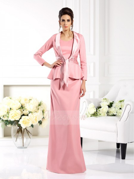 Sheath/Column Square Floor-Length Elastic Woven Satin Sleeveless Other Mother of the Bride Dresses