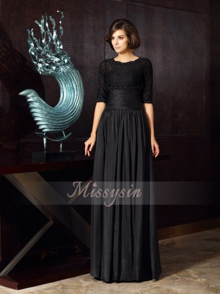 A-Line/Princess Sweetheart Floor-Length Taffeta Sleeveless Applique Mother of the Bride Dresses
