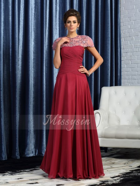 A-Line/Princess Sweetheart Floor-Length Chiffon Sleeveless Ruched Mother of the Bride Dresses
