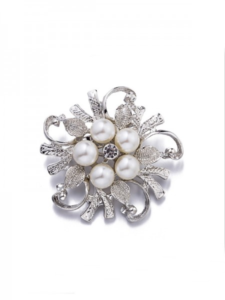 Brilliant Alloy With Imitation Pearl Womens Brooch