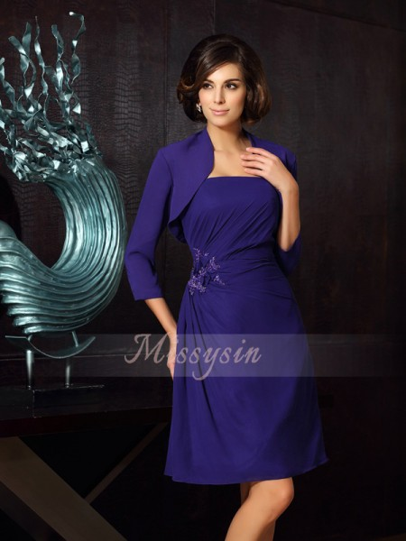 A-Line/Princess Sweetheart Knee-Length Chiffon Sleeveless Other Mother of the Bride Dresses