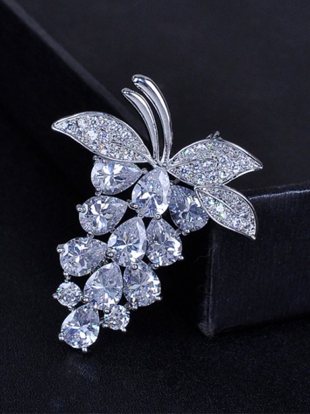 Fruit Shaped Zircon Womens Brooch